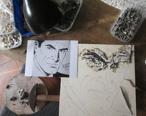 Ginko, 40x40 (cm), work in progress