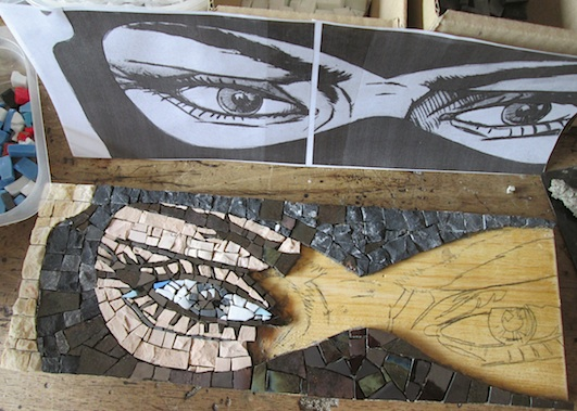 Diabolik il Re del Terrore, 10x30 (cm), work in progress
