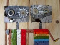 Rainbow Italia, recycled robots