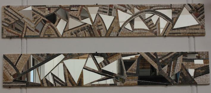 mosaic mirror, specchio a mosaico