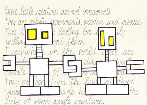 Robottini, schizzo n.1