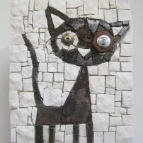 Black Cat, penholder, detail