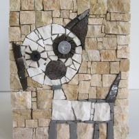 Dog, penholder, detail