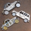 130,oo euro - Set of 3 old cars, art magnets