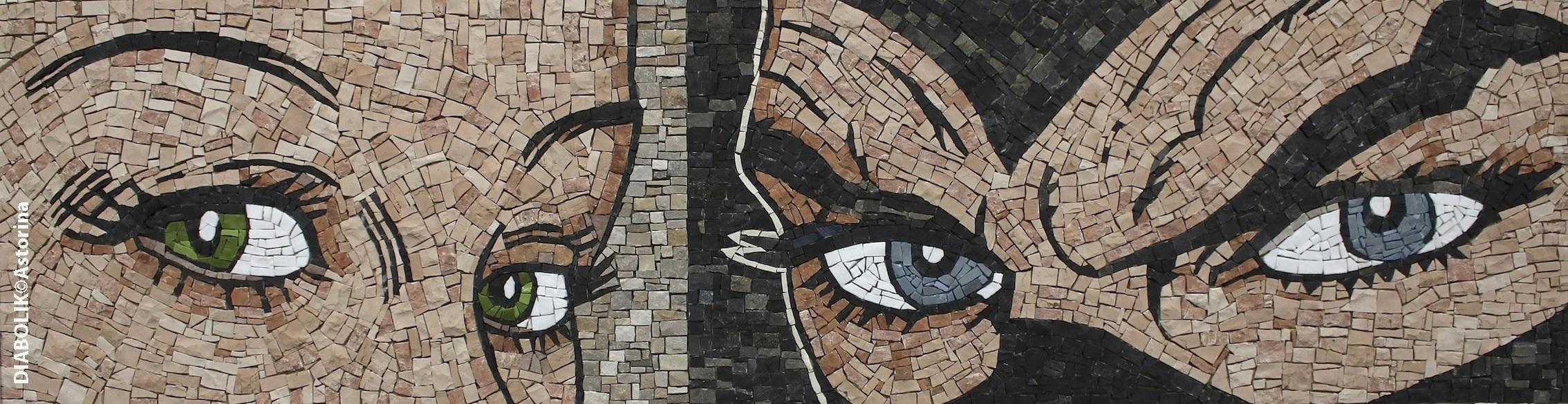 Mosaico di Eva e Diabolik, pezzo unico