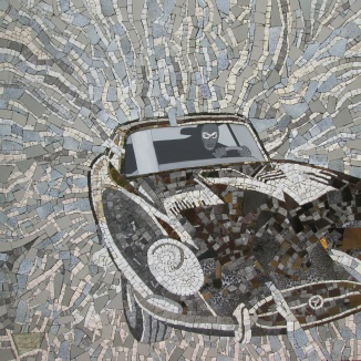 Mosaico della Jaguar E type di Diabolik