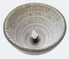 LUNA, lampada da terra, diametro 32cm profondita 23cm