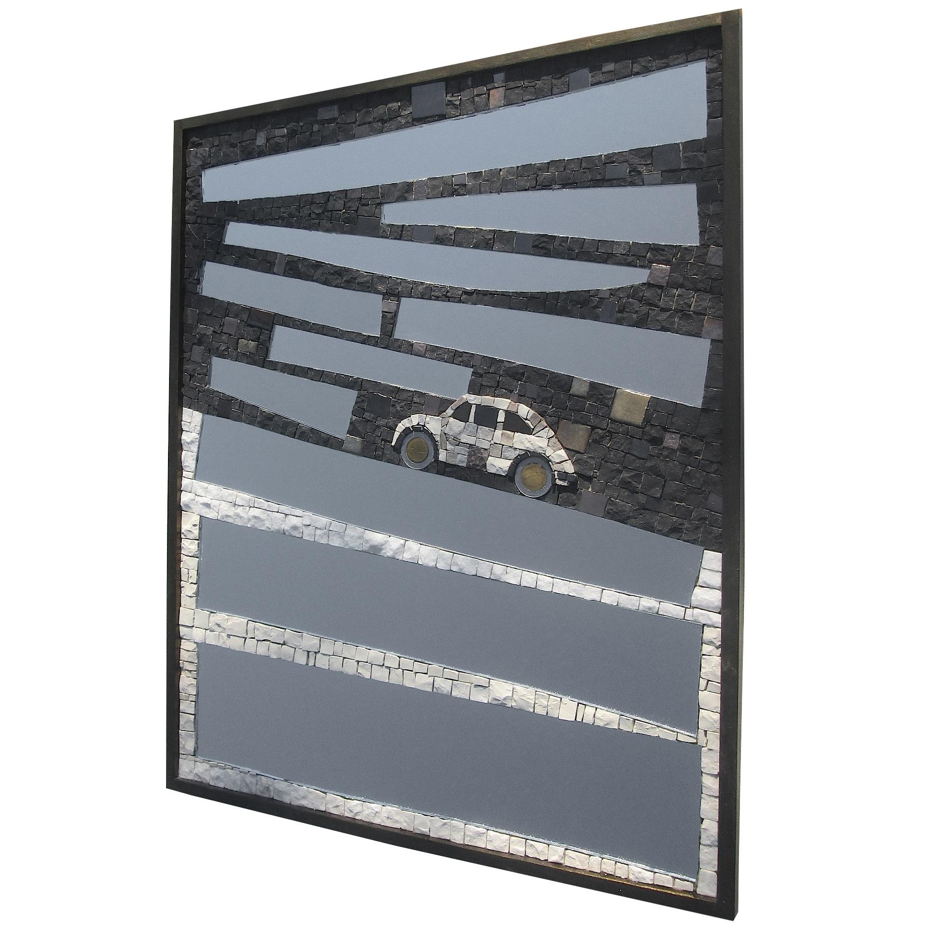 Specchio Fiat 500, 42,5x52,5x2 (cm)
