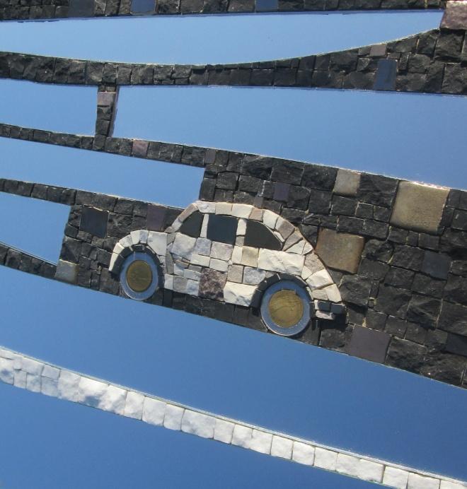 Specchio Fiat 500, detail