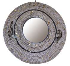 old cars, mosaic mirror