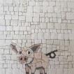 piggy mosaic, maialino a mosaico