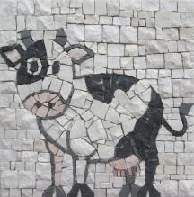 mosaic cow, mucca pezzata a mosaico