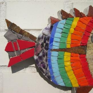 mosaic fish, detail