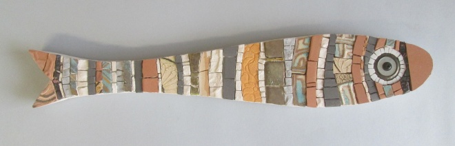 mosaic fish, sardina a mosaico