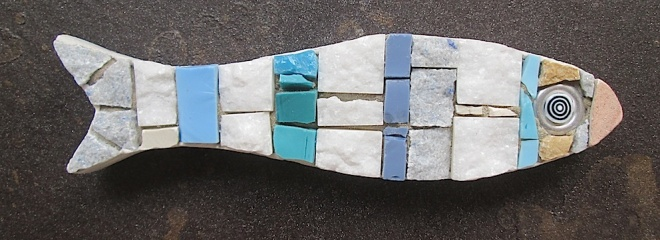 mosaic fish, art magnet