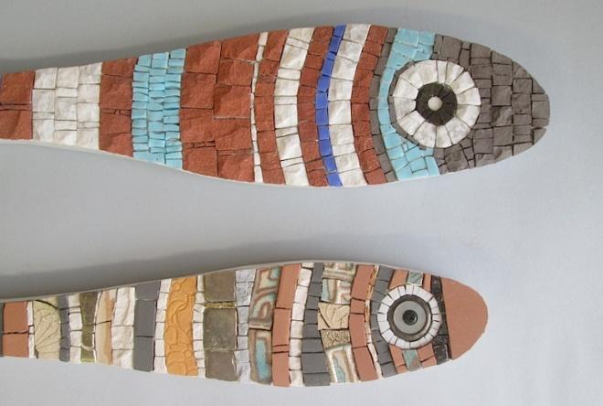 mosaic fish, sardine giganti
