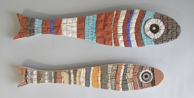 sardines, mosaic fish