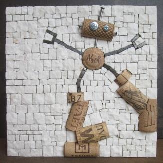 Robotap= robot+tappi di sughero (wine corks)