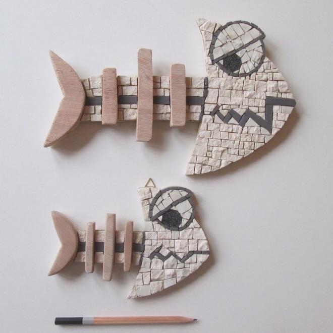FISHBONE (LISCA) n.2 mosaics