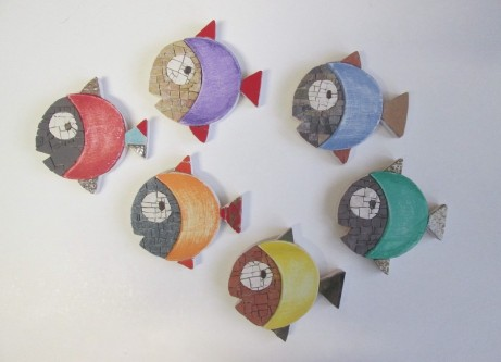Gruppo di n.6 RAINBOW FISH