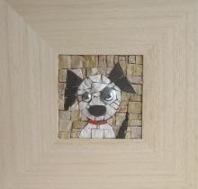 Mosaic: 7x7 (cm) Frame: 23x23x2 (cm)