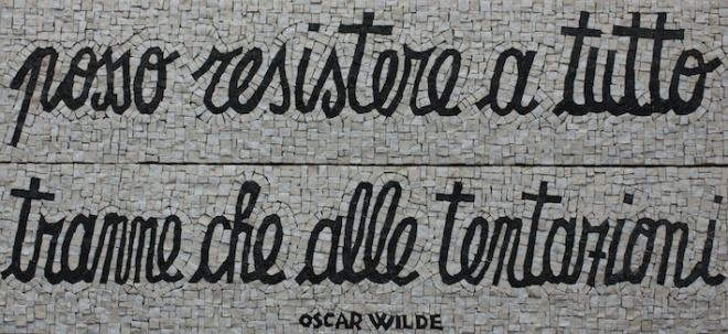 Citazione di Oscar Wilde,