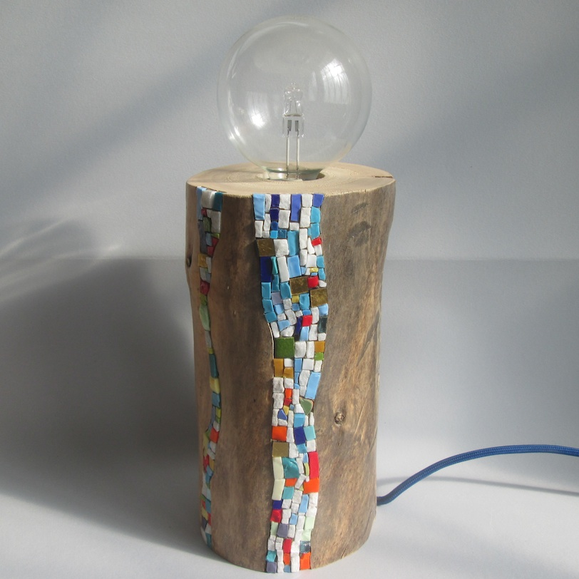 lampada a mosaico