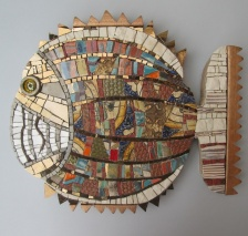 Patchwork fish, h.29cm, thickness 3cm