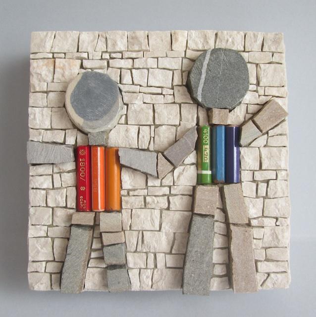 Rainbow kids, 14x14x4 (cm)