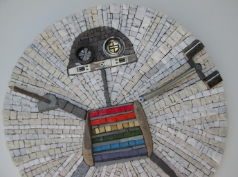 Rainbow robot 42cm, detail