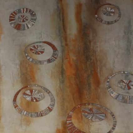 Rust, 100x100x3 (cm)