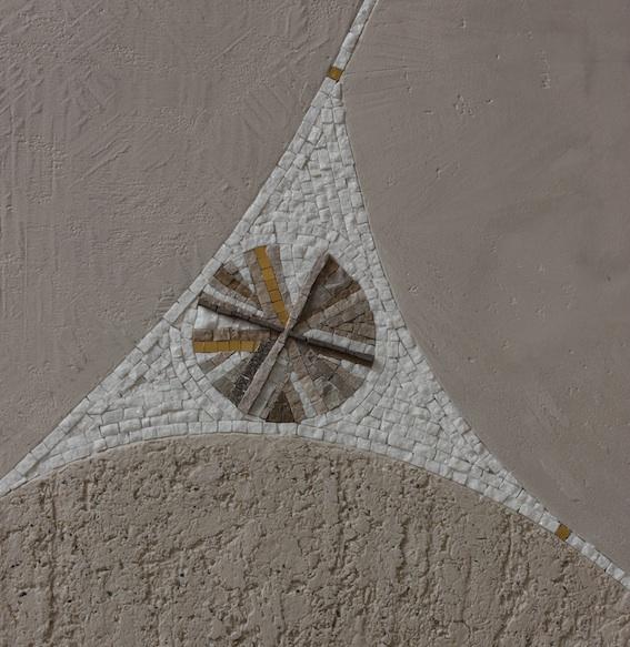 Sabbia, dettaglio dell'intarsio a mosaico