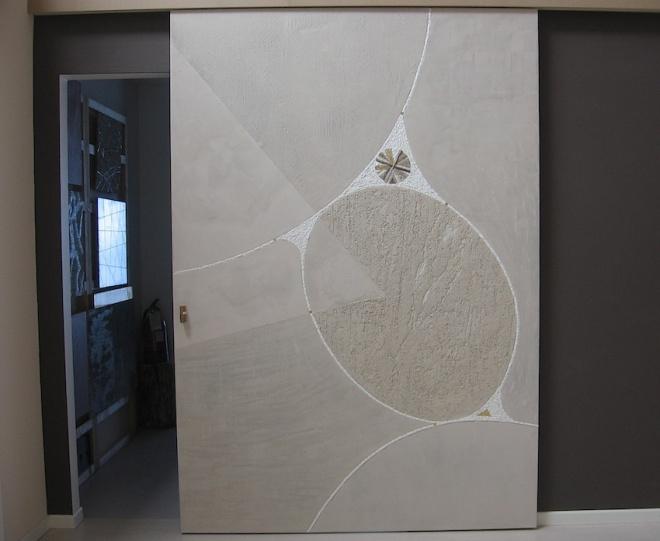 Sabbia, porta artistica, 170x250x5 (cm)