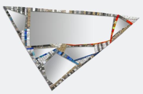 Specchio a frammenti (fragments mirror), 50x60x70 (cm)