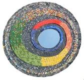 Specchio Rainbow (mosaic mirror), 90 cm