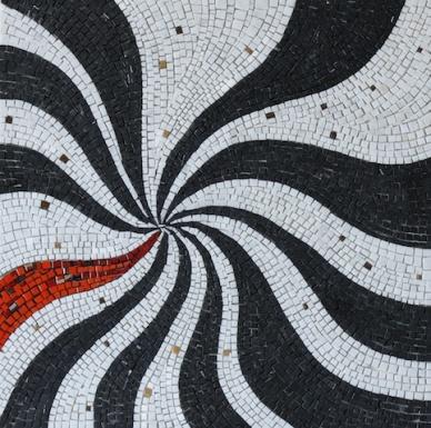 Vertigo, mosaic carpet, 70x70x1 (cm)