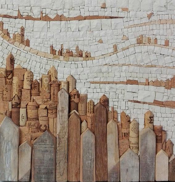 Landscape stone no.1, 40x40x5 (cm)