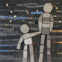 FATHER AND SON 17x17cm 180€