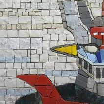 MAZINGA Z mosaic art