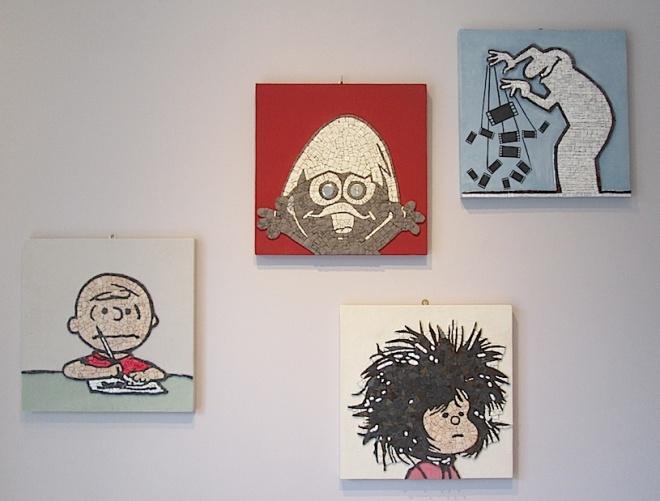 Charlie Brown, Calimero, Mafalda e Mr Linea