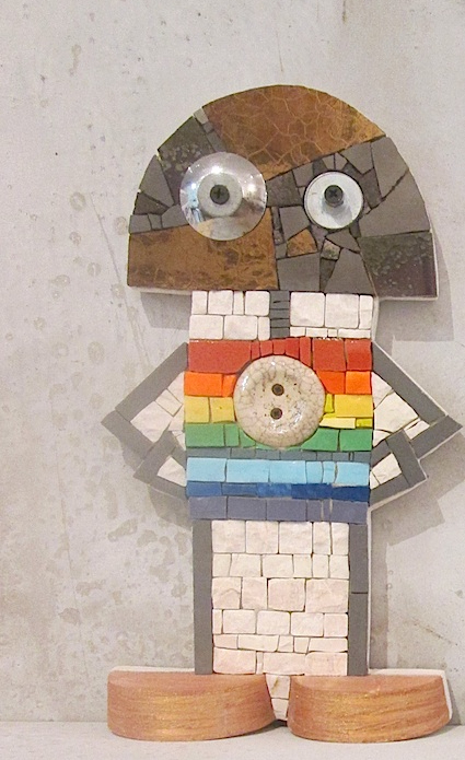 Robottone arcobaleno h.29 cm