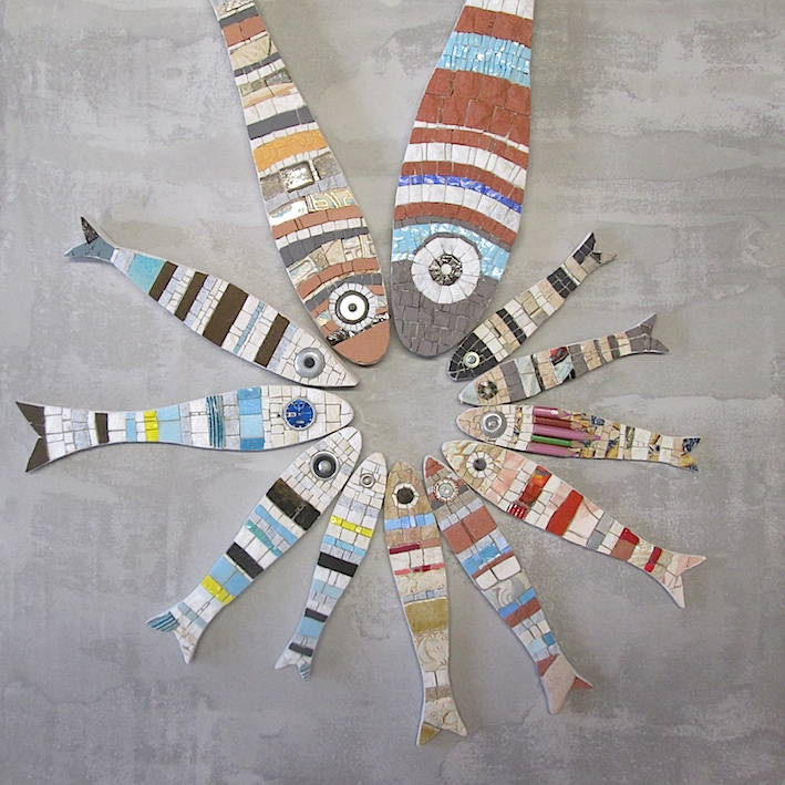 mosaic sardines