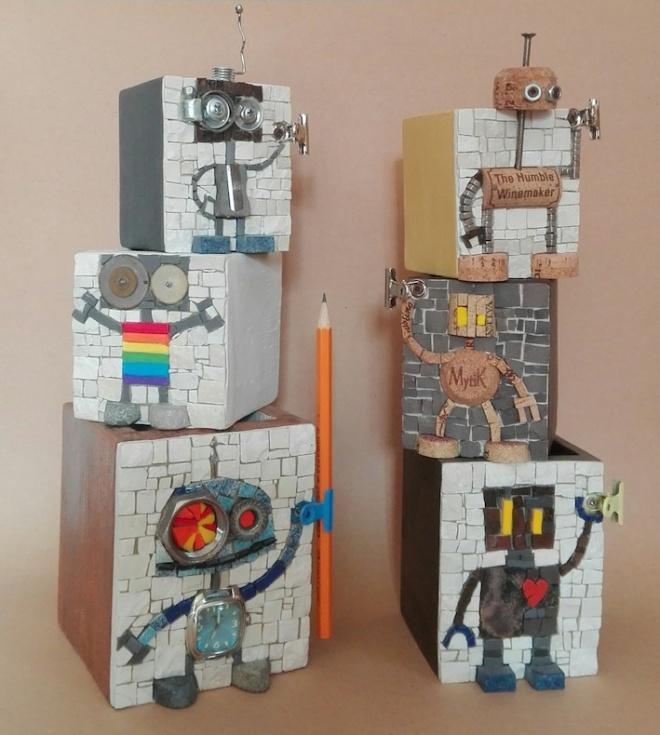 Robot penholders mix