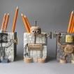 200,oo euro - Set of 3 robot penholders