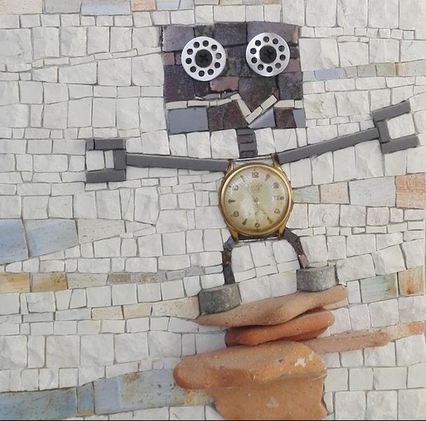 Climber robot con orologio vintage