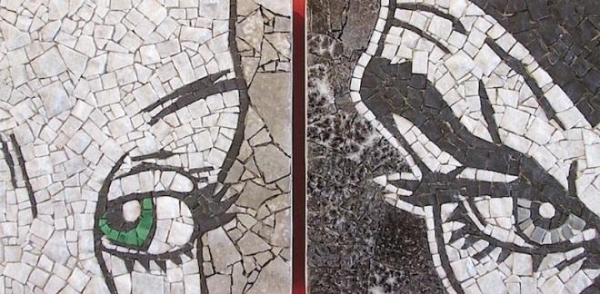 Eva e Diabolik, mosaico in due parti