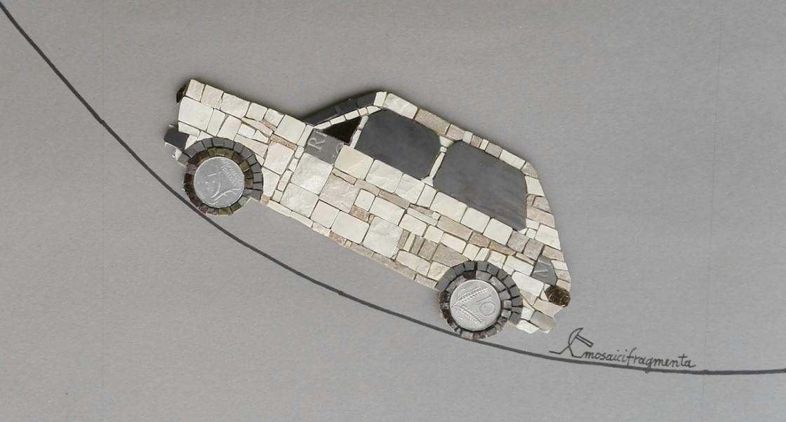 Fiat 127 mosaic art