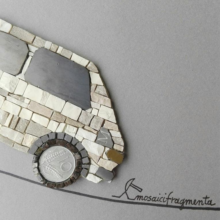 FIAT 127 mosaic art-dettaglio posteriore