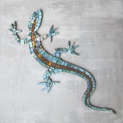 mosaico su rete in fibra di vetro