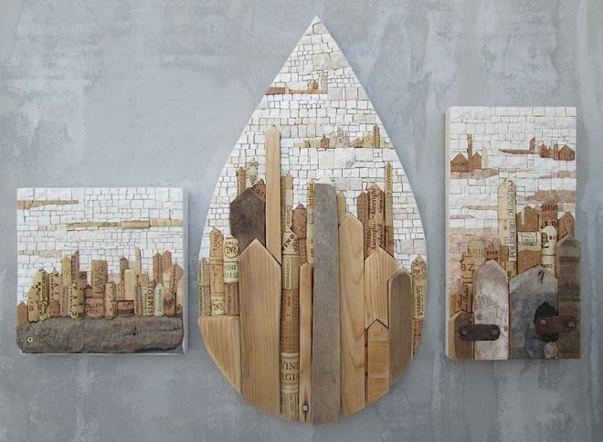 Gruppo di paesaggi pietra e sughero